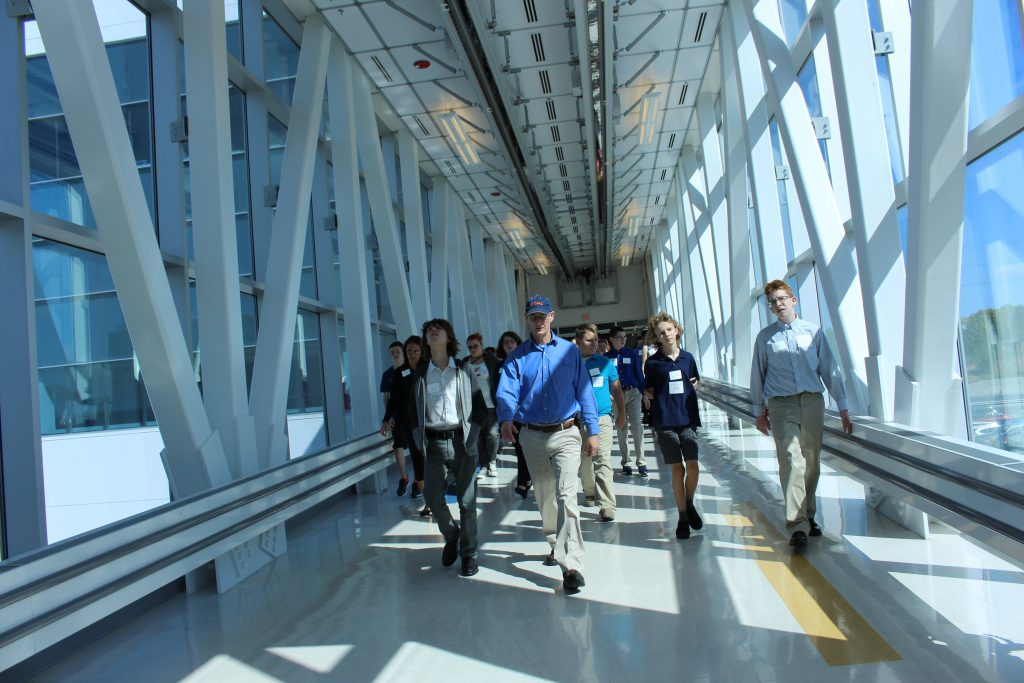 photo of TVHS students touring SUNY Poly