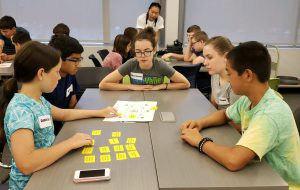 sixth and seventh grade students apply for a week-long summer camp