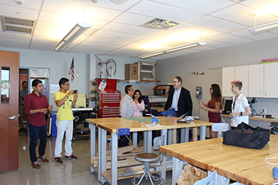 Photo of Columbian Delegation touring TVHS.