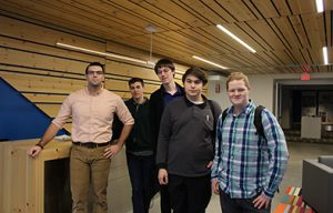 Photo of students in the lobby of EYP.