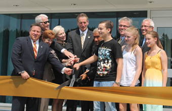 Photo of a ceremonial ribbon cutting