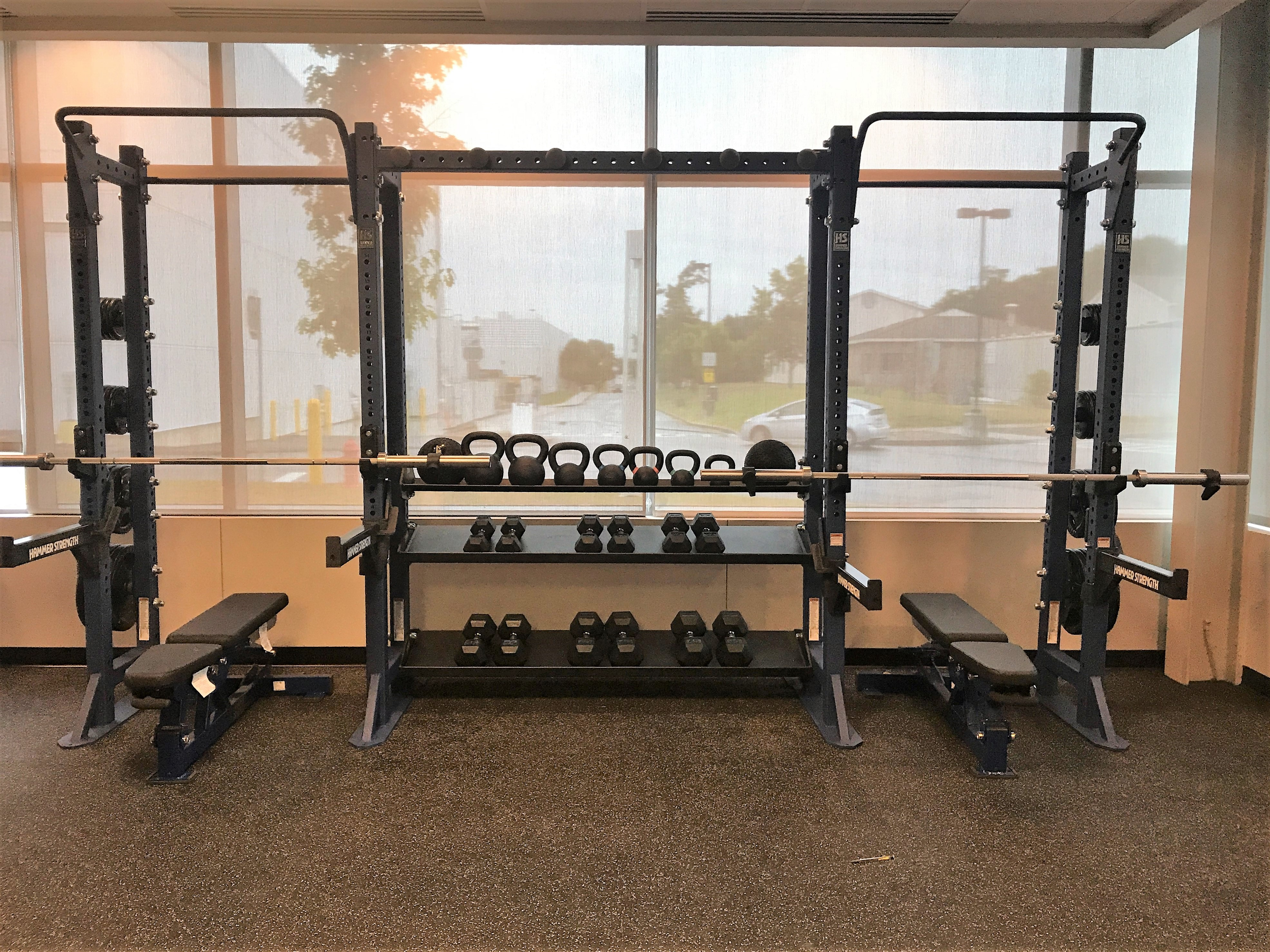 Photo of weight machine in new fitness center
