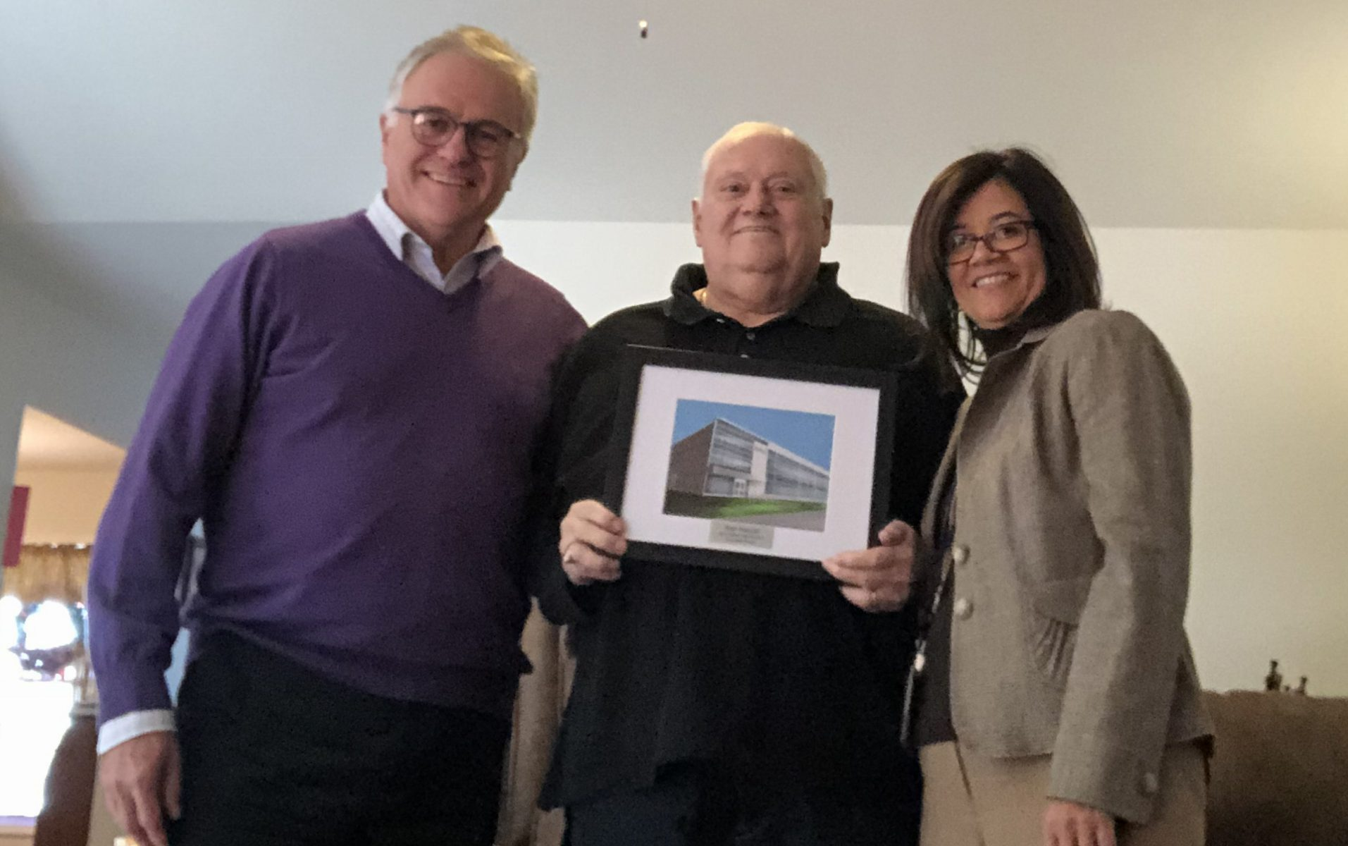 Photo of Jim Baldwin, Paul Puccio and Dr. Gladys I. Cruz