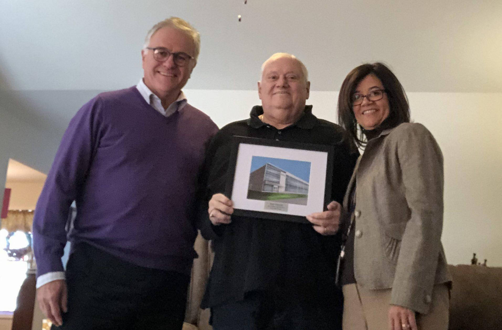 Photo of Jim Baldwin, Paul Puccio and Dr. Gladys I. Cruz